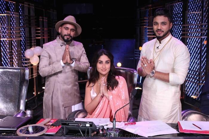 Judges Kareena Kapoor Khan, Raftaar, Bosco Martis ,Host Karan Wahi Had Grand Masti on the Sets of Dance India Dance !