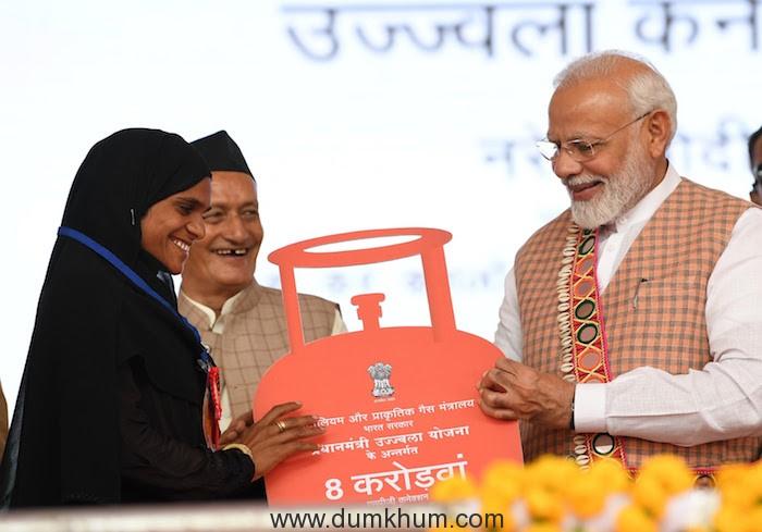 Ujjwala Yojana achieves target of 8 crore LPG connections 7 months ahead of target date