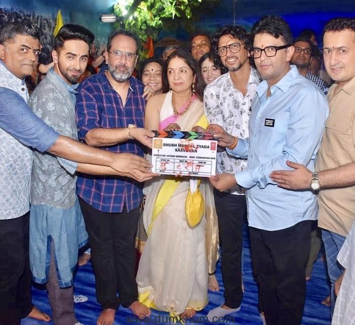 Anand L Rai, Bhushan Kumar, Ayushman Khurrana and Neena Gupta-1