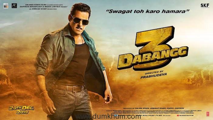 Salman Khan kickstarts the 100-day countdown to Dabangg 3 as the most Loveable Robinhood Pandey arrives this Christmas!