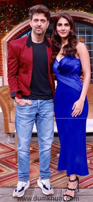 Hritik Roshan and Vani Kapoor have a Rocking time on Kapil Sharma Show