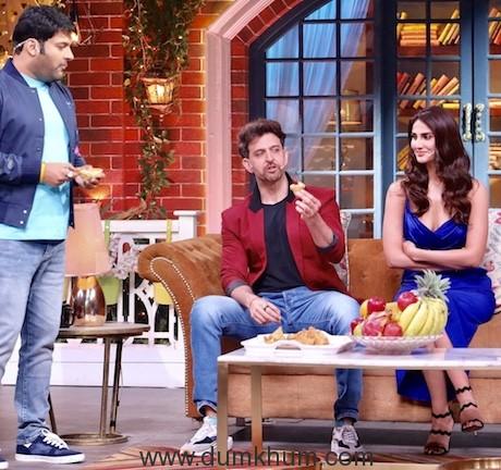 Hritik Roshan and Vani Kapoor have a Rocking time on Kapil Sharma Show-1