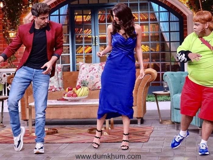 Hritik Roshan and Vani Kapoor have a Rocking time on Kapil Sharma Show--2