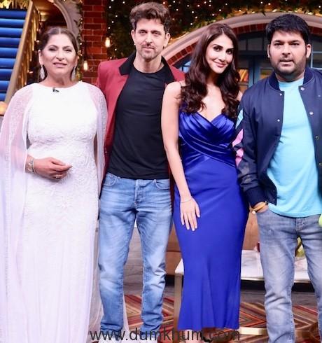 Hritik Roshan and Vani Kapoor have a Rocking time on Kapil Sharma Show !