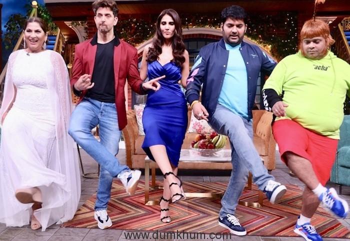 Hritik Roshan and Vani Kapoor have a Rocking time on Kapil Sharma Show-5
