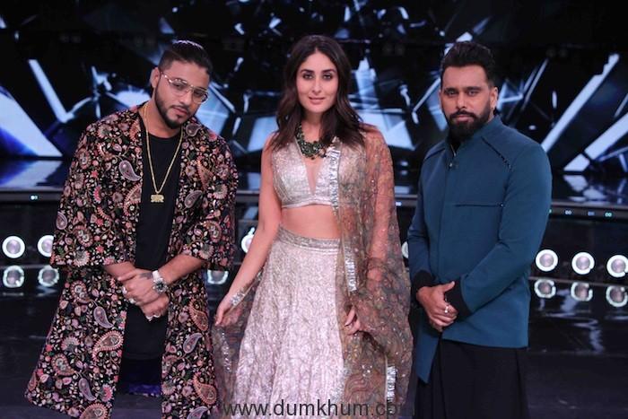 Judges Raftaar,Kareena Kapoor Khan and Bosco Martis on the sets of DID(1