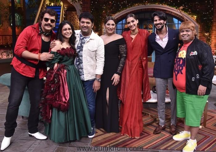 The cast of The Zoya Factor- Sonam K Ahuja and Dulquer Salmaan on Kapil Sharma show !