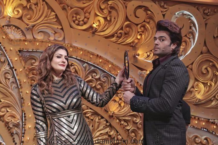 Maniesh Paul turns make-up man for Raveena Tandon-1