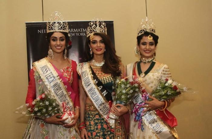 Miss India Worldwide Shree Saini crowns Tanishk Sharma as Miss India Worldwide 2019