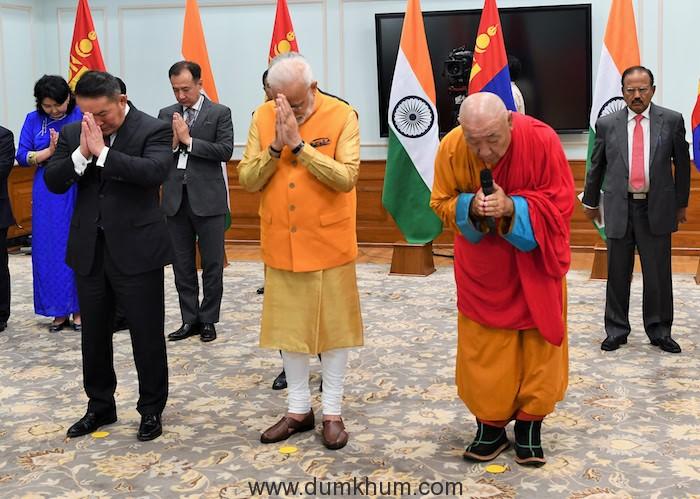 PM Narendra Modi & Mongolian PM inaugurated the Buddha statue unveiled the Buddha statue-1