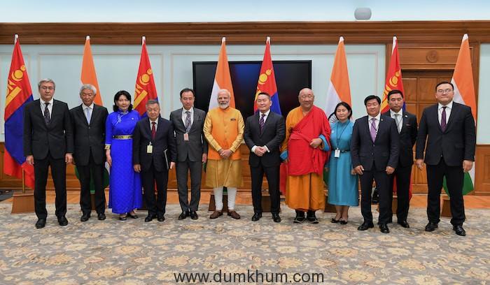 PM Narendra Modi & Mongolian PM inaugurated the Buddha statue unveiled the Buddha statue-2
