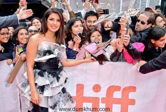 Priyanka Chopra Jonas receives a standing ovation at the Toronto International Film Festival