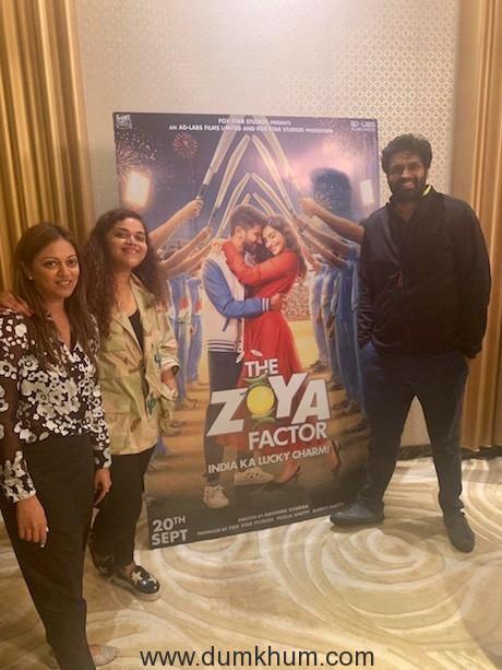 Ravi Bhagchandka attend the screening of The Zoya Factor