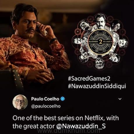 Renowned author and novelist Paulo Coelho praises Nawazuddin Siddiqui