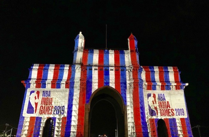 NBA Lights Up The Gateway of India