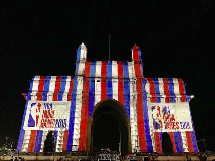 The Gateway of India dazzles with a stunning light & sound montage for NBA India Games 2019 (1)