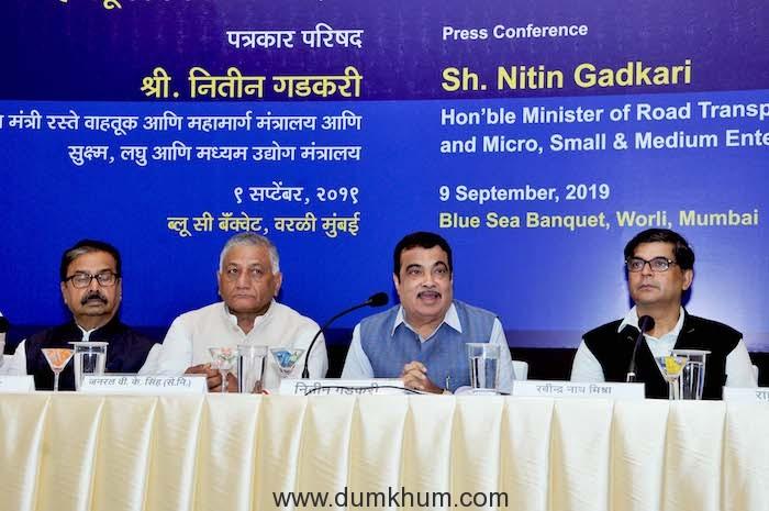 Union Minister Shri Nitin Gadkari on 100 Days of Modi Government-2