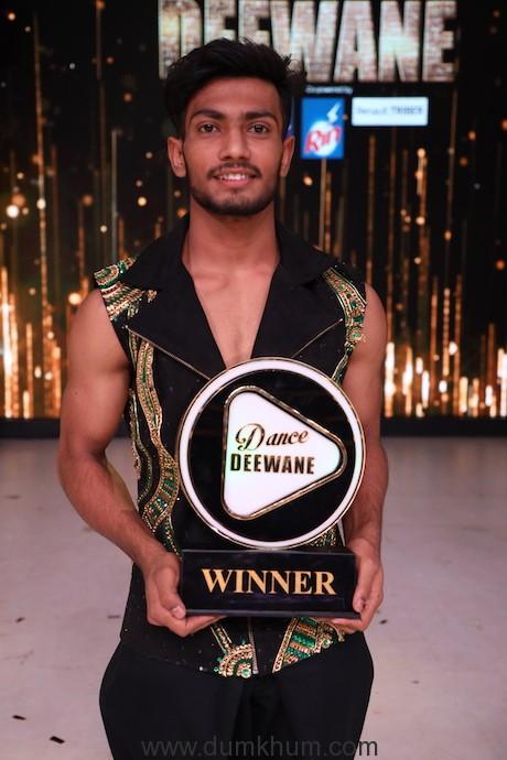 Vishal Sonkar crowned the ultimate winner of Dance Deewane