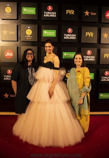 Artistic Director Smriti Kiran, Festival Chairperson Deepika Padukone and Festival Director Anupama Chopra