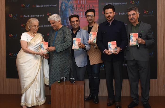 Karan Johar, Anil Kapoor, Javed Akhtar, launch Khalid Mohamed's debut novel 'The Aladia Sisters' by Om Books International !