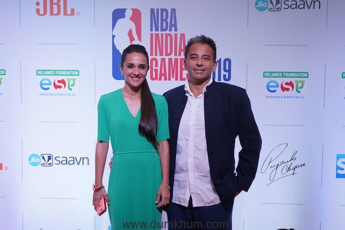 Bollywood Actor Tara Sharma with Roopak Saluja at the NBA India Games Welcome Reception (1)