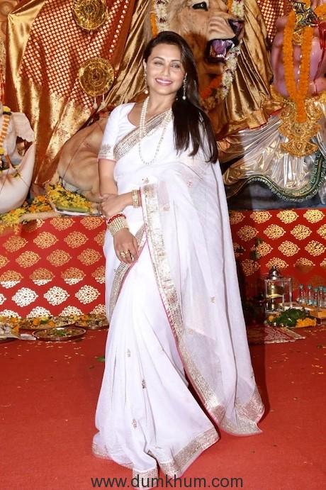 Rani Mukherjee & Ayan Mukherjee at the Durga Puja Pandal today-3