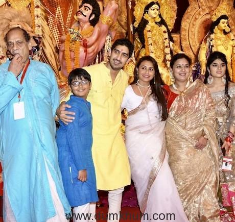 Rani Mukherjee & Ayan Mukherjee at the Durga Puja Pandal today-5