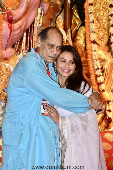 Rani Mukherjee & Ayan Mukherjee at the Durga Puja Pandal today-6