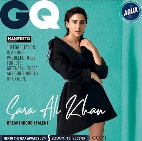 Sara Ali Khan shines bright on the cover of a leading magazine with the title of 'Breakthrough Talent of The Year