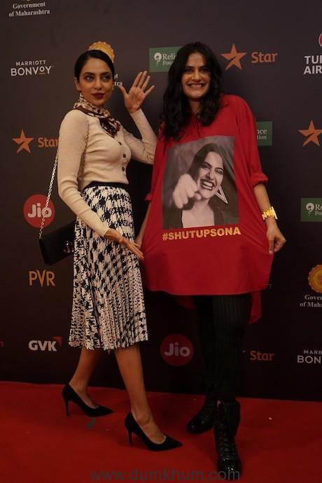 Sobhita Dhulipala and Sona Mohapatra for Artistic Freedom at Jio MAMI 21st Mumbai Film Festival with Star (2)