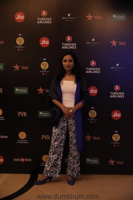 Tannishtha Chatterjee at Jio MAMI 21st Mumbai Film Festival with Star