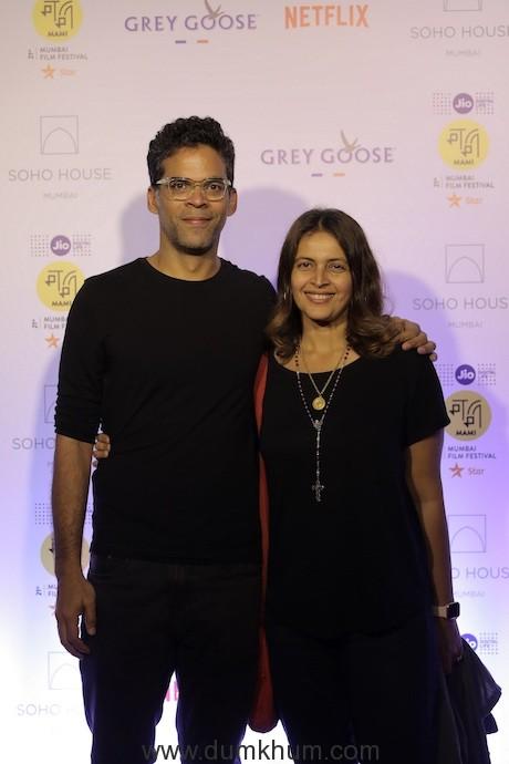 Vikramaditya Motwane and Ishika Mohan at the Annual Festival Soiree of the Jio MAMI 21st Mumbai Film Festival with Star at Cecconi's Soho House Mumbai