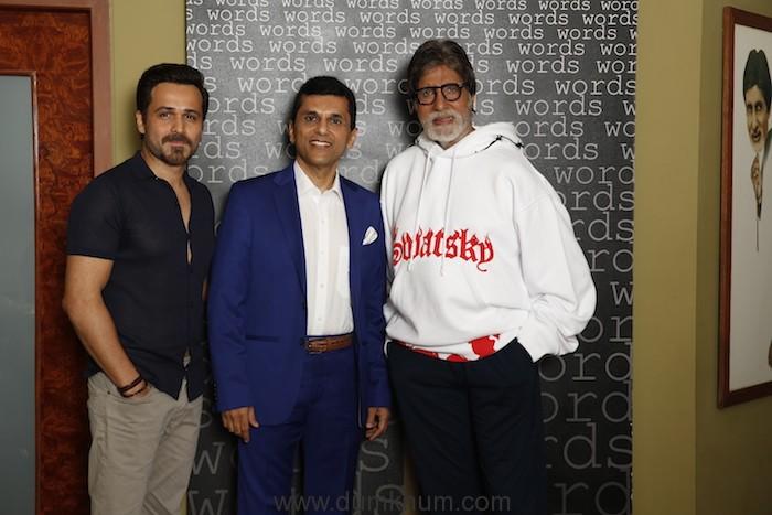Emraan Hashmi, Anand Pandit and Amitabh Bachchan