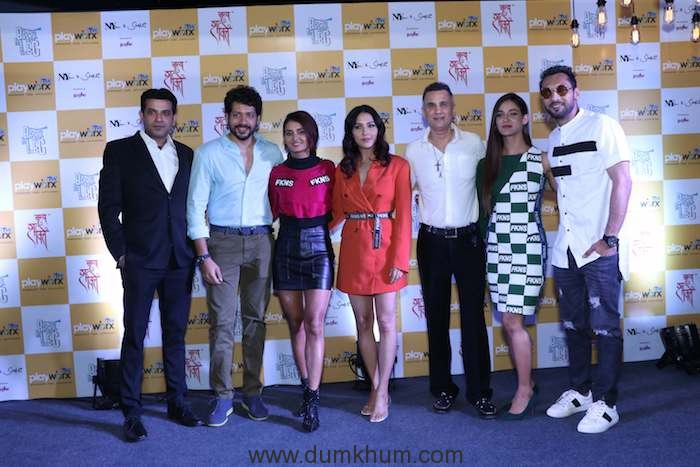 Mr. Sidharth Ghosh (CEO, ITW Playworx), Nihaar Pandya, Shakti Mohan, Neeti Mohan, Bunty Bahl (CEO, ITW Playworx Entertainment), Mukti Mohan, and Punit J Pathak at the launch of Break A Leg Season 2