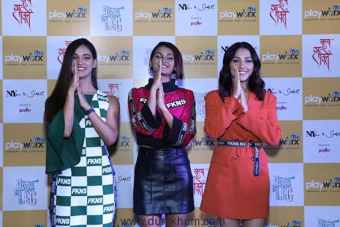 Mukti Mohan, Shakti Mohan, Neeti Mohan at the launch of Break A Leg Season 2