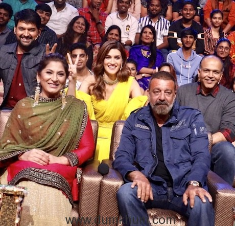 Sanjay Dutt, Kriti Sanon and Director Ashutosh Gowariker graced the sets of The Kapil Sharma Shwo for the promotion of their upcoming film Panipat-