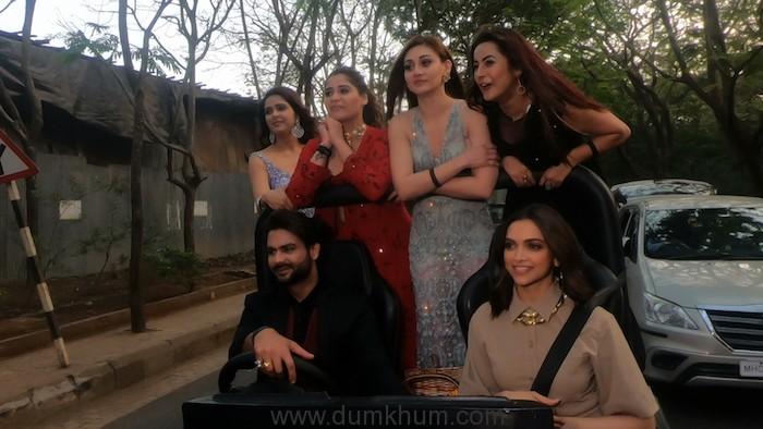 Deepika Padukone on a Joy ride with Bigg Boss contestants (2)