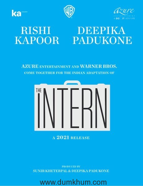 THE INTERN to be adapted by AZURE Entertainment & Warner Bros !