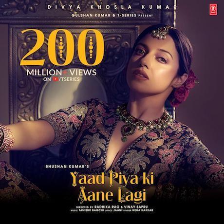 Divya Khosla Kumar hits it out of the park as Yaad Piya Ki Aane Lagi crosses 200 million views on YouTube!
