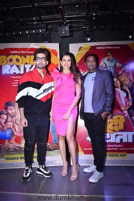 (L-R) Himansh Kohli, Sonnalli Seygall, Director Kamal Chandra
