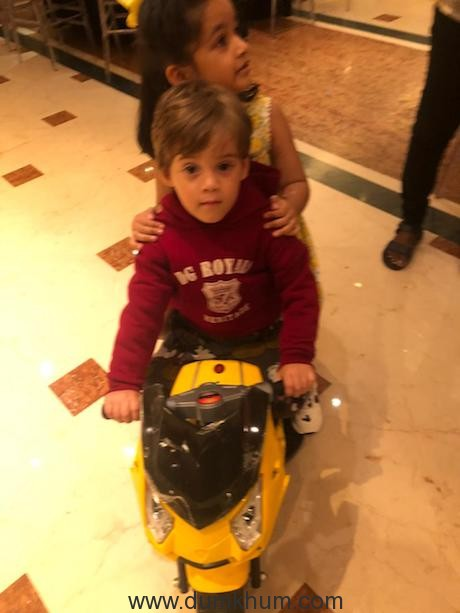 Roohi and Yash Johar at their birthday party today