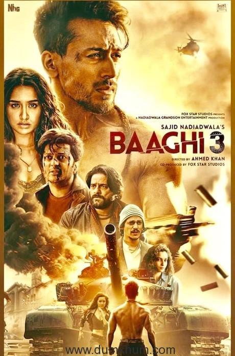 Tiger Shroff in Baaghi3-