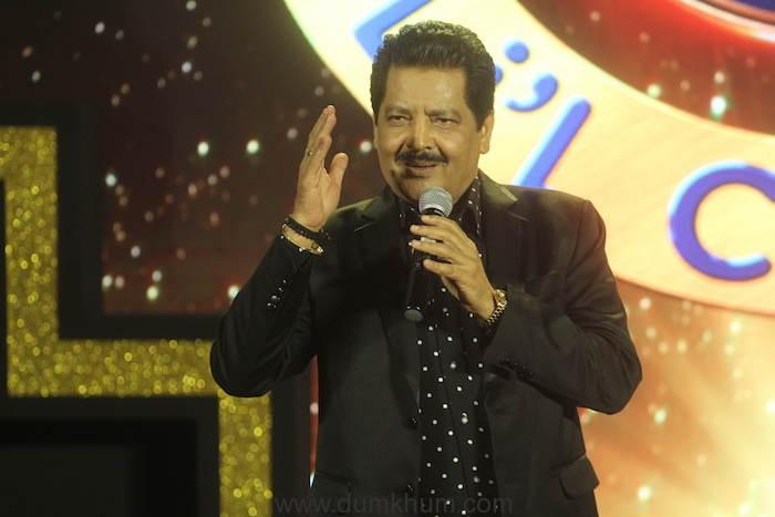 Udit Narayan at the Sa Re Ga Ma Pa Li'l Champs Concert