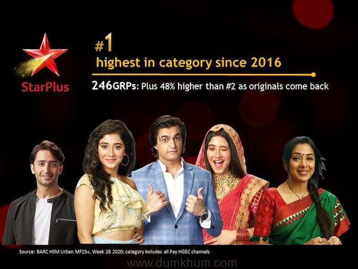 Viewers show their love for Star Plus as the channel surges to No. 1 with fresh content