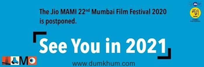 Jio MAMI Mumbai Film Festival Announces Postponement
