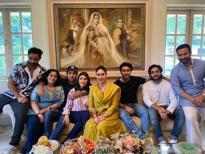 Kareena Kapoor Khan shares pictures from Rakhi celebration at the Kapoors.