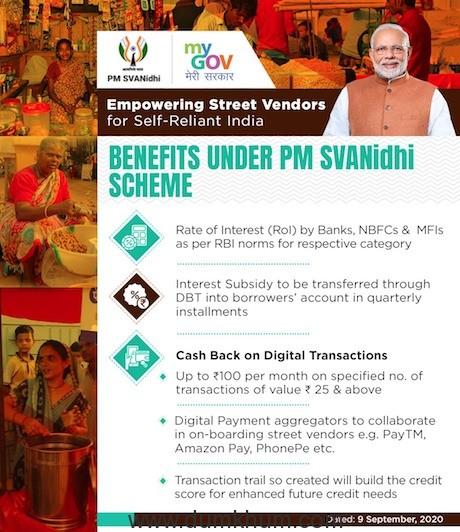 PM holds 'Svanidhi Samvaad' with street vendors from Madhya Pradesh -1