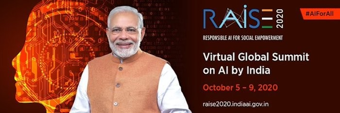 Prime Minister Shri Narendra Modi to inaugurate the summit 'Responsible AI for Social Empowerment 2020 on 5th Oct at 7 PM