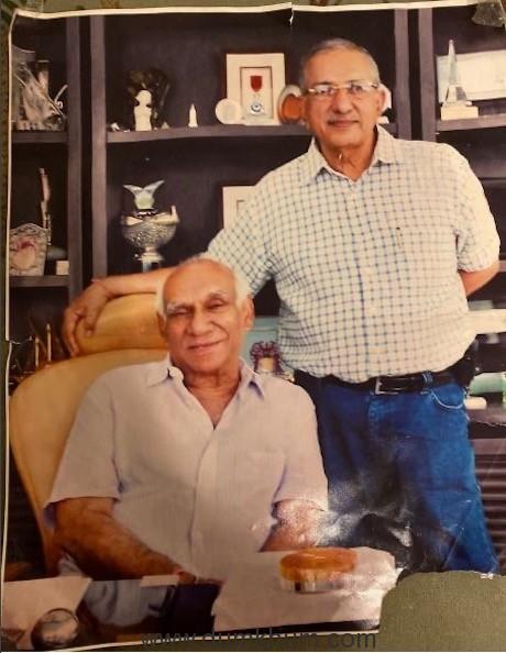 Yash Chopra with Mahen Vakil