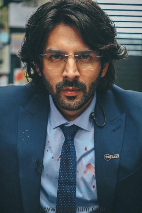 Kartik Aaryan as Arjun Pathak from his upcoming movie Dhamaka.